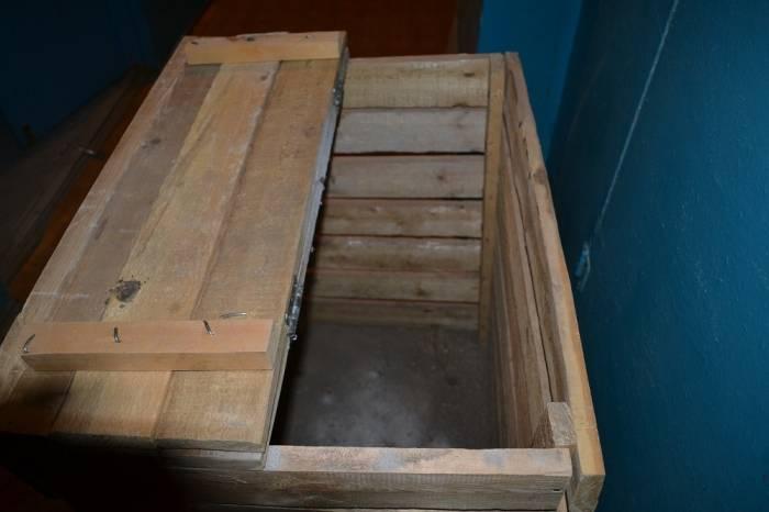 Ящик для хранения картофеля на балконе и в подвале, видео и фото