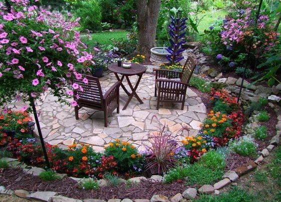 Круглые формы в саду