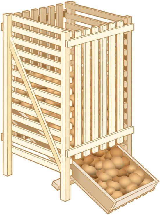 Хранение картофеля на балконе зимой: как сделать ящик своими руками
