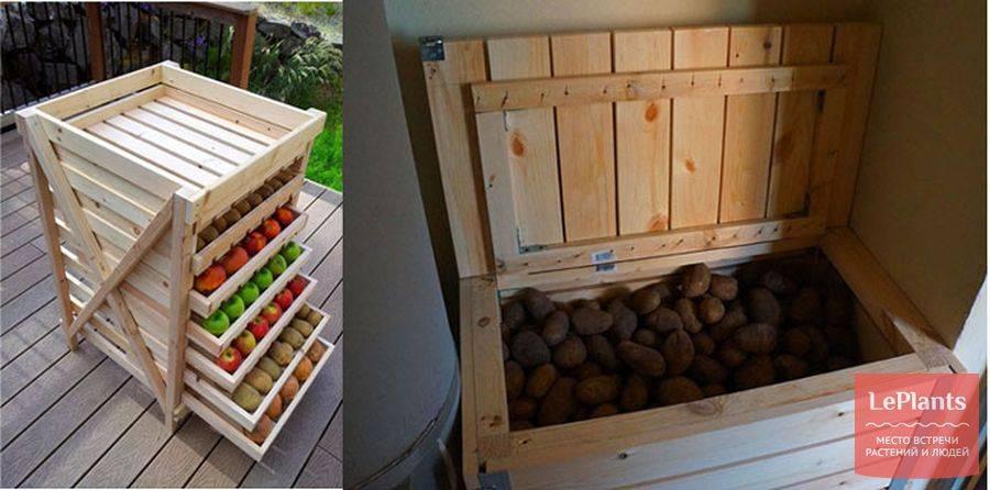 Как сделать ящик для хранения картошки своими руками