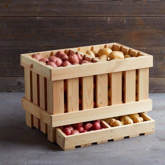 Ящики для овощей: удобное хранение продуктов на кухне