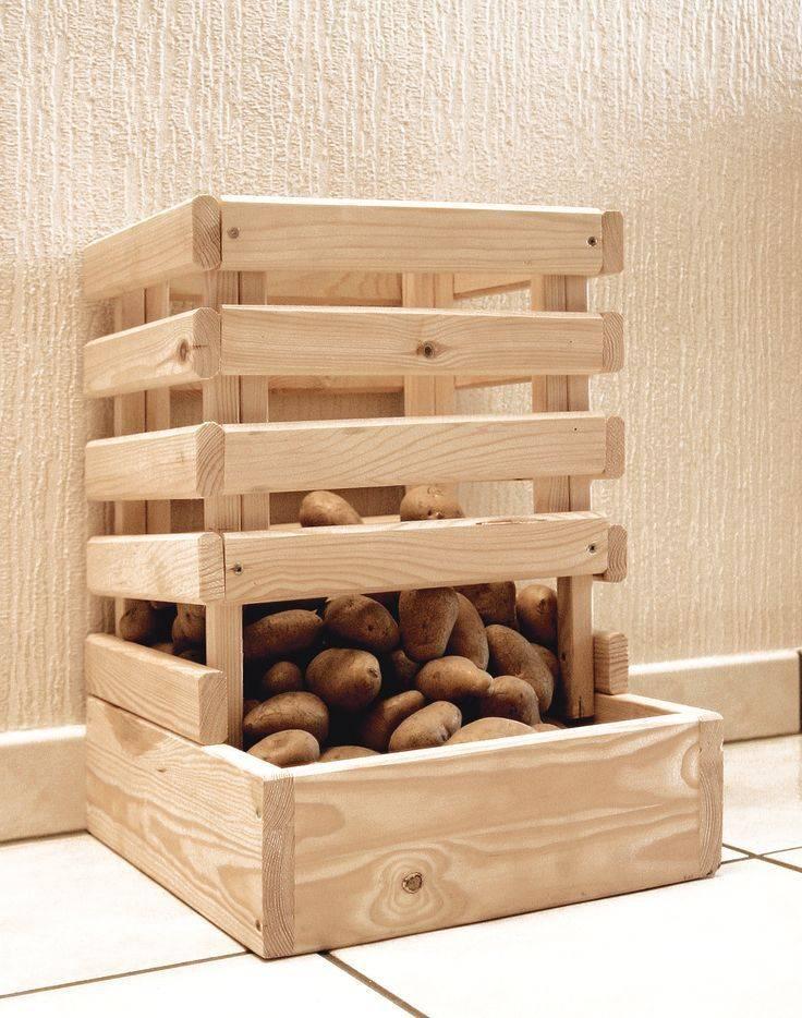 Для хранения картошки ящик. как сделать ящик для хранения картофеля на балконе   зелёный сад